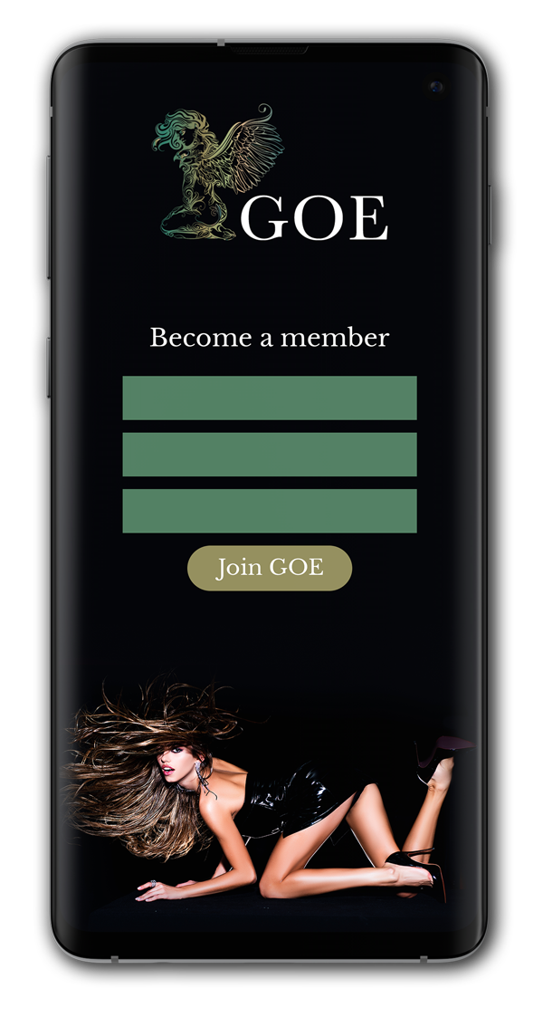 Become a GOE member - Phone with a membership form